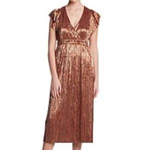 June And Hudson Metallic Dress